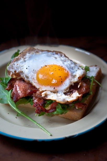 pine needle duck egg sandwich