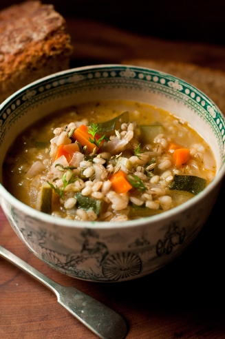 barley and sherry soup