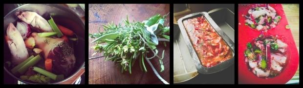 ham hock beetroot horseradish terrine