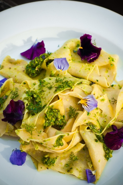 wild garlic chipotle homemade pappardelle