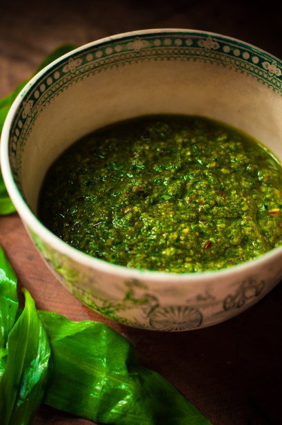 wild garlic hazelnut chipotle chilli pesto
