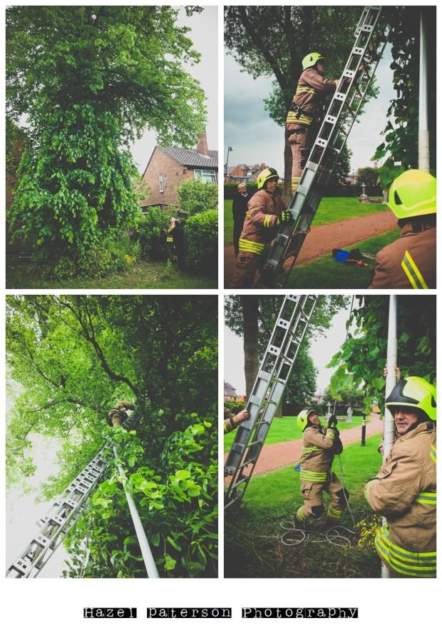 fire crew rescue Poppy Bumface