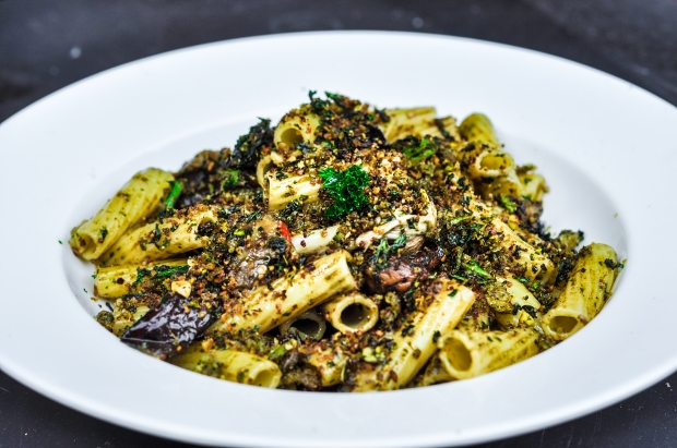 ink cap pasta with kale and pistachio pangrattato-1