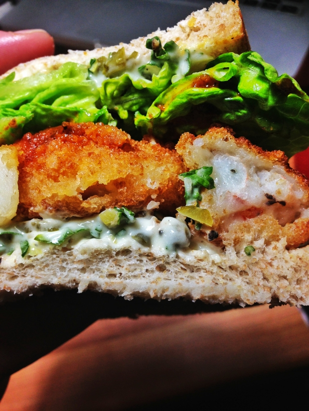 like a posh fish finger sandwich but better