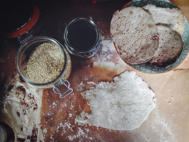 homemade rye crispbreads